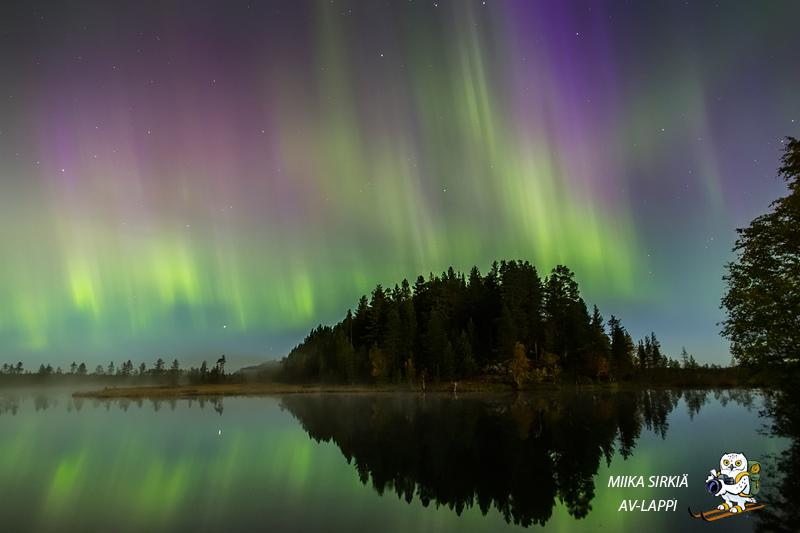 Revontulimyrskyn värit tekivät suurimman vaikutuksen kameran kautta. Rehdellisesti sanottuna paikan päällä näky oli suorastaan vaisu.